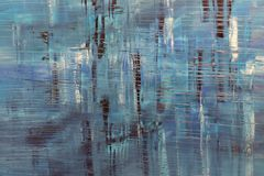 Abstract Painting Art: Strokes with Different Color Patterns like Blue, Black, and White stock image
