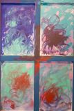 Abstract Painting Art: Strokes with Different Color Patterns - W Stock Image