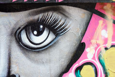 Abstract painting in Arthur Verona street in Bucharest, Romania. Stock Photography