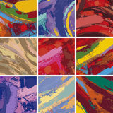 Abstract painting background design set vector illustration
