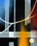 An abstract painting on a black background Royalty Free Stock Images