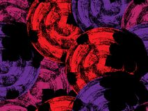 Abstract painting of black circles. With red, pink and violet, Seamless pattern background royalty free illustration
