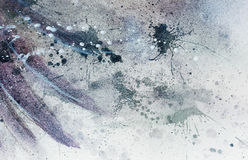 Abstract painting with blurry and stained structure with gentle feather silhouette. Abstract painting with blurry and stained structure with gentle feather Royalty Free Stock Images