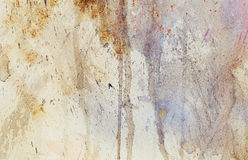 Abstract painting with blurry and stained structure. metal rust effect with glitter grains. Stock Photos