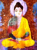 Abstract painting of buddha Royalty Free Stock Photography