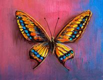 Abstract painting butterfly stock photography