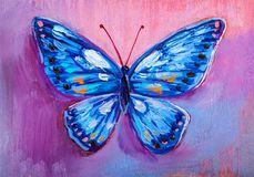 Abstract painting butterfly stock photos