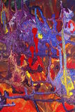 Abstract Painting on Canvas Stock Image