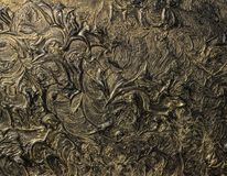 Abstract painting on canvas. Black colors and gold. Background. Abstract painting on canvas. Black colors and gold. Abstract patterns. Background royalty free stock photos
