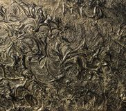 Abstract painting on canvas. Black colors and gold. Background. Abstract painting on canvas. Black colors and gold. Abstract patterns. Background stock images