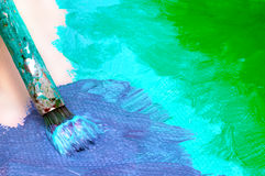 Abstract painting on canvas Royalty Free Stock Photography