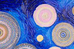 Abstract painting of circles. Royalty Free Stock Photo