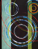 An abstract painting. On a circular theme Royalty Free Stock Photos