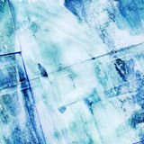 Abstract painting with collage paper texture. Abstract watercolor painting with collage paper texture Stock Illustration