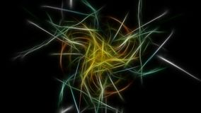 Abstract color background with fractal effects. Fractal silk symmetry series stock illustration