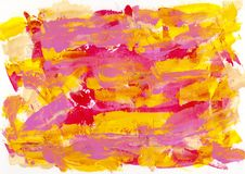 Abstract painting color texture, acrylic color background, knife. Texture, yellow, red, pink. Self made royalty free stock photo