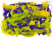 Abstract painting color texture, acrylic color background, knife. Texture, yellow, green, blue, purple. Self made royalty free stock images