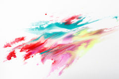 Abstract painting of colorful bright polar lights. Abstractionism, creativity, modern art. Abstract painting of colorful bright polar lights isolated on white Stock Images