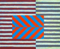 An abstract painting. Constructed from stripes and chevrons Royalty Free Stock Images