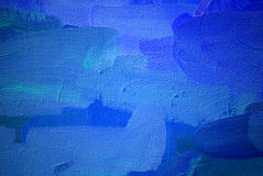 Abstract painting in dark blue cold tones Stock Photography