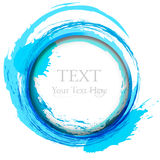 Abstract painting design element. Blue. Stock Images