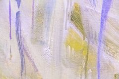 Abstract painting detail texture background with brushstrokes. Painted canvas fragment, abstract art painting detail texture background with brushstrokes royalty free stock images