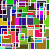 Abstract painting, digital collage, mixed media, colorful background. Stock Image