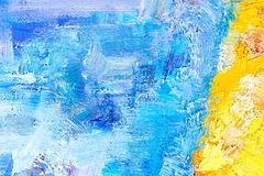 Abstract painting fragment Royalty Free Stock Images