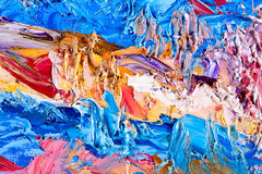 Abstract painting fragment. Fragment of my painting. Oil on canvas. abstract painted background. focus on brushstrokes Royalty Free Stock Images