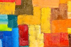 Abstract Painting Fragment. Abstract texture background of an original oil geometric painting close-up fragment on canvas with brush strokes Royalty Free Stock Photos