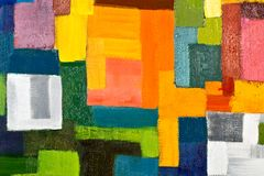 Abstract Painting Fragment Stock Photography