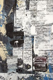 Abstract painting. Fraying paint on paper painting royalty free stock photography