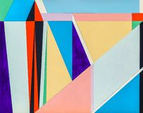 An abstract painting, geometric abstraction with triangular elem. An abstract painting, geometric abstraction with many triangular elements stock photos