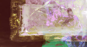 Abstract Painting on glass Royalty Free Stock Photos