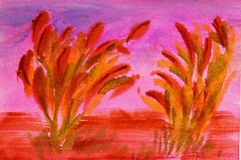 Abstract painting of grass Stock Photos