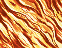 Abstract painting / illustration of a burning fire with wild flames. The painting was drawn digitally by hand using a stylus pen and therefore is unique. The Royalty Free Stock Photo