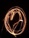 Painting a heart with light stock images