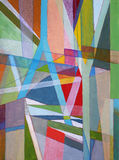 An abstract painting; linear and geometric. A modernist abstract painting; linear and geometric Stock Photos