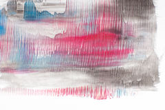 Abstract painting, modern art, color gradient blur. Modern abstract painting, creative art. Black, blue and red gradient, smudge blurred colors on white Royalty Free Stock Photo
