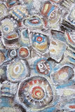 Abstract painting. Mountain river stones. Circles on the water. Stock Photos