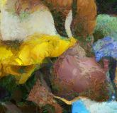 Abstract Oil Painting. Abstract Painting in muted colors. 3D rendering Royalty Free Stock Photography