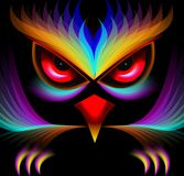 Abstract Painting Of An Owl Stock Photography