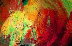 Abstract painting by oil on a canvas,  illustration,  background Stock Image