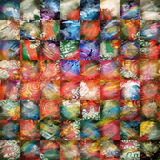 Abstract Painting Patchwork. Patchwork background made of different hand made paintings Royalty Free Stock Photos