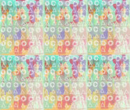 Abstract painting pattern. Colorful drops, triangles, circles. Royalty Free Stock Photography