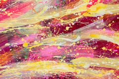 Abstract painting. Red and yellow sky. Oil painting. High resolution photo Vector Illustration