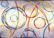 Abstract painting - Ringer #3. An abstract painting, circular theme Stock Image