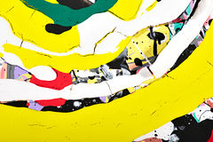 Abstract painting. Splashes and stripes of paint Royalty Free Stock Images