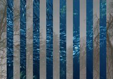 Fish school. Abstract painting with stripes and fish school Stock Photos