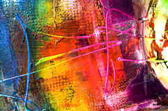 Abstract painting structure. Modern art - details structure painting colorful Royalty Free Stock Photos